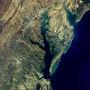 The Chesapeake Bay as seen from NASAs MODIS