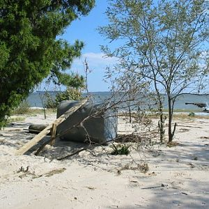 Piney Point - Oil Tank on the Beach