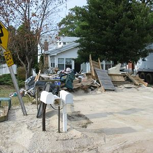 Piney Point - Debris Piled Up