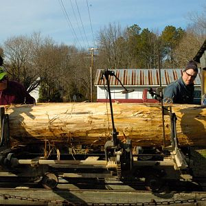 Log Sawing Demo @ Cecil's Mill