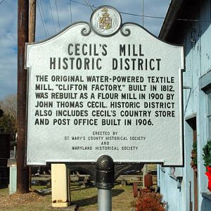 Cecil's Old Mill, Indian Bridge Road, Great Mills, MD