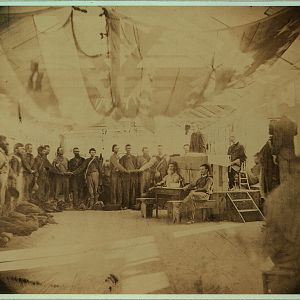 Prisoners at Point Lookout taking the oath of allegiance