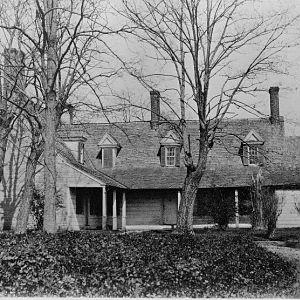 West View (land side) of Mansion before 1914.