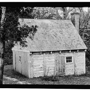 Old log slave cabin