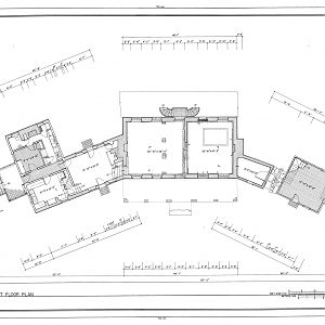 Habre de Venture, First Floor Plan Drawing