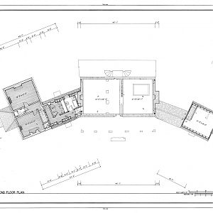 Habre de Venture, Second Floor Plan Drawing