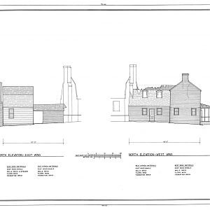 Habre de Venture, North Elevation Drawing