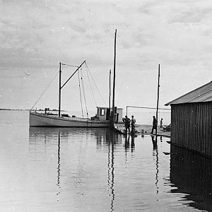 At the wharf. Rock Point, Maryland, 1936