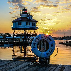 Sunrise at Drum Point Lighthouse