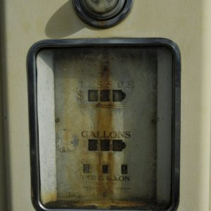 Old gas pump closeup