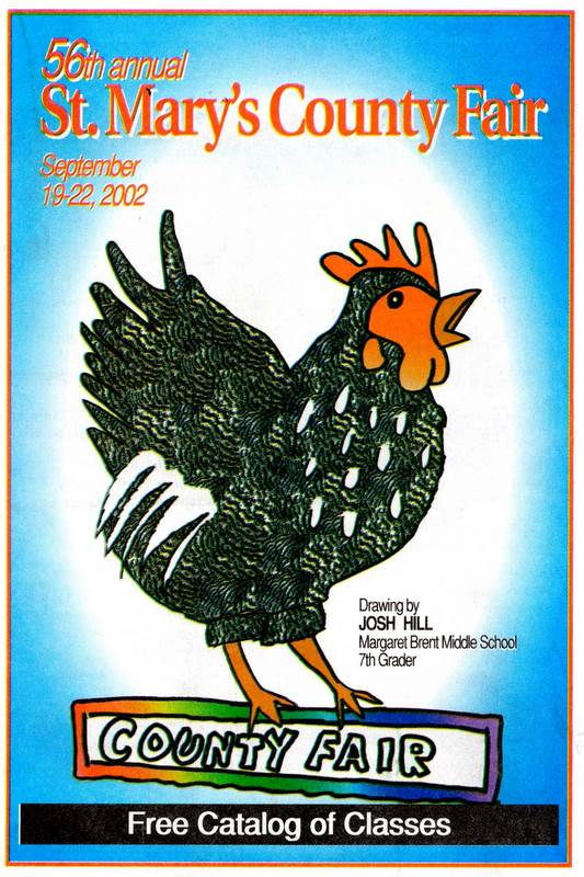 2002 Catalog Cover, St. Mary's County Fair